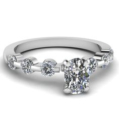 white-gold-cushion-white-diamond-engagement-wedding-ring-in-bar-set-FDENS1571CUR-NL-WG