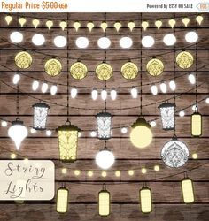 Until New Year - Wedding lights clipart Bright lanterns Lights strings Wedding clip art PNG Wedding bridal invites Digital lights Instan Lantern String Lights, Candle Lanterns, Wedding Clip, Diy Wedding, Digital Light, Light Garland, Wedding Decorations, Wedding Lanterns, Fairy Lights