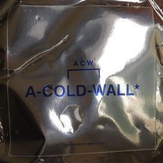 One of my favourite brands right now... @acoldwall created by the visionary @srd_______  Very Authentic