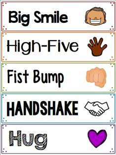 Welcome Greeting Signs by Mrs Mac's Teaching Hacks Classroom Rules, Preschool Classroom, Classroom Organization, Preschool Activities, Kindergarten Books, Welcome To Class, Welcome To School, Welcome Students, Beginning Of The School Year