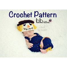 Scarecrow Set  PATTERN ONLY Crochet  Size 0-3 by BeccasBeanies