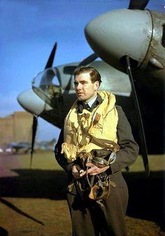 West Australian Wing Commander Hughie Edwards V.C. D.S.O. D.F.C., Commanding Officer of No. 105 Sqn. R.A.F. quite possibly at RAF Horsham St Faith