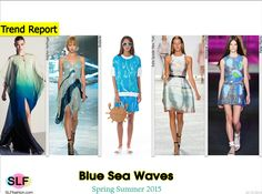 Fashion as an Art Form: Blue Sea Waves. Marine Life Trend for Spring Summer 2015.  Halston Heritage, Rodarte, Kate Spade New York, Monique Lhuillier, and Peter Pilotto  #Spring2015 #SS15