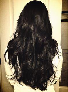Hairstyle For Long Hair - For Women [ Gaya Baru Rambut Wanita ] Long Black Hair, Dark Hair, Beautiful Long Hair, Gorgeous Hair, Coiffure Hair, Aesthetic Hair, Dream Hair, Hair Day, Hair Looks