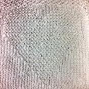 Justinianknits a Heart Dishcloth - via @Craftsy. craftsy.com