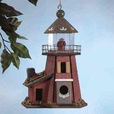 Lighthouse bird house...
