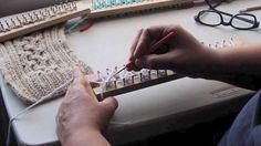 Bufanda con trenza en telar - Como empezar - Completo