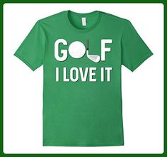 Mens Golf I Love It Golf Ball Golf Club It Humor Golfing T-Shirt Large Grass - Sports shirts (*Amazon Partner-Link)