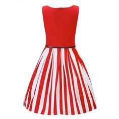 Bette' Red Stripe Swing Dress