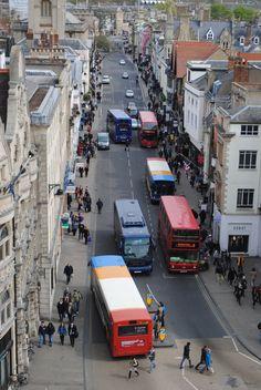 Oxford, England. I spy a Brookes bus!