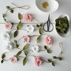 Your marketplace to buy and sell handmade items. Felt Flower and Rose Garland Flower Garland Home andHow to give your home a touch of hygge-style # a touch # hygge # your # easter at Easter Sunflo. Rose Garland, Felt Garland, Floral Garland, Flower Garlands, Felt Flowers, Diy Flowers, Paper Flowers, Handmade Felt, Handmade Crafts