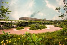 Image 6 of 21 from gallery of The Gates / Bloc Architects. Outside World, Tropical Landscaping, Entrance Gates, Plant Design, Sustainable Living, Water Features, Natural Stones, Landscape Design, Lush