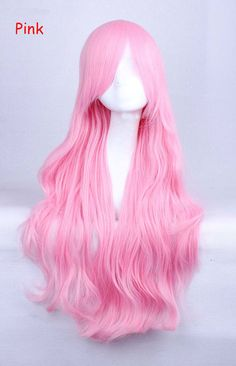 Pink Anime Cosplay Wigs Long Heat Resistant Synthetic by knifwigs