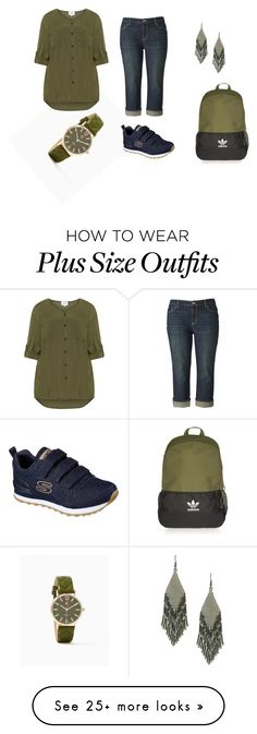 """""""everyday 2"""" by ilona-giladi on Polyvore featuring Simply Vera, Zizzi, Skechers, Topshop and Amabel Designs"""