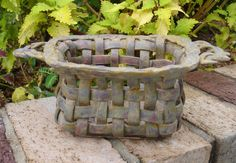 Rustic Rusty Ceramic Basket by Linda Starr