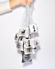 My new embroidered Christmas Tags / kasiaurbanrybska.com