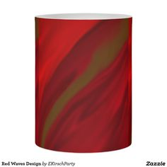 Red Waves Design Flameless Candle