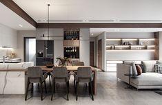 40 Inspiring Modern Apartment Design Ideas With Elegant Room Decor Condo Interior Design, Modern Apartment Design, Modern Kitchen Design, Luxury Interior, Kitchen Interior, Condo Design, Interior Decorating, Küchen Design, House Design