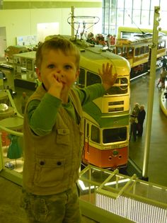 Ross at the Riverside Transport Museum, Glasgow .... he absolutely loved it and rushed me around with him everywhere.