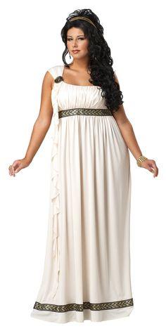 Rose Quartz base costume: California Costumes Plus-Size Olympic Goddess Dress Costume: Adult Sized Costumes: Clothing