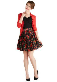 Focus on Flowers Skirt, #ModCloth - I love this outfit.