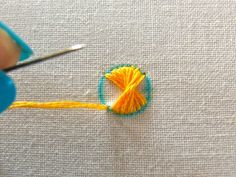 Very neat stitch & tutorial  - totally stealing for my next project. lol. #embroidery #tutorial