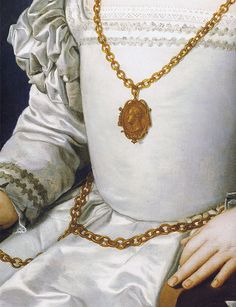 Bronzino - Portrait of Bia [1542] #Art #Detail