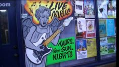 WINDOW PAINTING-Weeping Angel  (Dr. Who) Guitarist