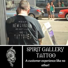 Visit Spirit Gallery Tattoo for your custom artwork today! #SpiritGalleryTattoo #tattoo #inked #newlondonct