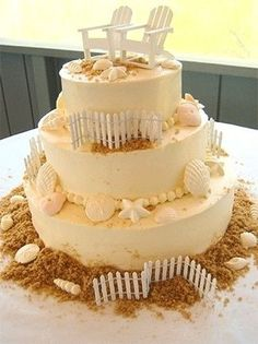 Beach wedding cake - Torta matrimonio in spiaggia