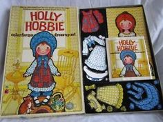 Vintage Holly Hobbie Colorforms Kit w Instructions American Greetings 1975 | eBay