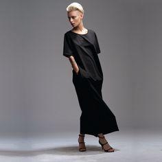 Black Oversized Maxi Dress - Long Black Dress - Casual Dress with Pockets - plus size clothing - Classic Black Dress - Elegant black dress by twotoneshop on Etsy https://www.etsy.com/listing/193535012/black-oversized-maxi-dress-long-black