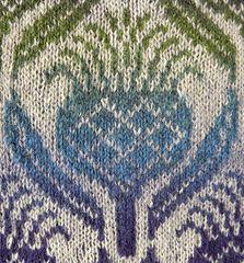 Flowers of Scotland pattern by Ruth Sorensen - fair isle knittings Beginner Knitting Patterns, Fair Isle Knitting Patterns, Knitting Machine Patterns, Knitting Charts, Loom Knitting, Knitting Stitches, Knitting Socks, Knitting Projects, Hand Knitting