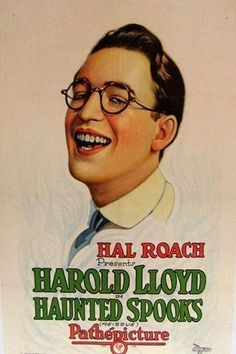 Theatrical poster for the 1920 silent film Haunted Spooks starring Harold Lloyd.