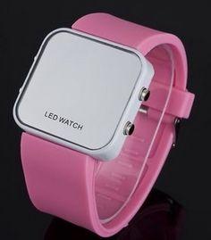 Luce fashion con tu reloj Led Mirror. #ComprasOnline #ShoppingMall https://appl.transexpress.com.sv/shoppingmall/compras/ComprarProducto.aspx?id=56565B