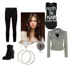 """""""first day"""" by alikat666 on Polyvore featuring Dolce Giavonna, Julie Wolfe, Philipp Plein, Paige Denim, IRO and Betani"""
