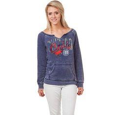 Chicago Cubs Women's Slit-Neck Crew Sweatshirt by 5th & Ocean | SportsWorldChicago $54.95
