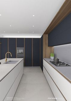 This would have to be a little bit of a fav kitchen design concept at the moment, it is masculine, rich and very elegant. The use of walnut...