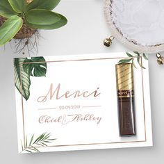 merci-rosegoud-botanisch-trouwbedankje/ - The world's most private search engine Wedding Gifts For Guests, Wedding Favours, Wedding Cards, Diy Wedding, Dream Wedding, Wedding Day, Summer Wedding, Party Favors, Wedding Planning Tips