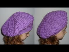 ▶ Crochet Flower Beret For Girls Tutorial 7 Part 2 of 2 Free Crochet Beret Hat Pattern - YouTube