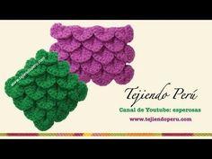 Punto cocodrilo o escamas tejido a crochet - YouTube