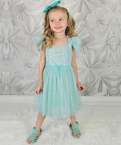 This Blue Sequin Sparkle Dress - Infant, Toddler & Girls by Just Couture is perfect! #zulilyfinds
