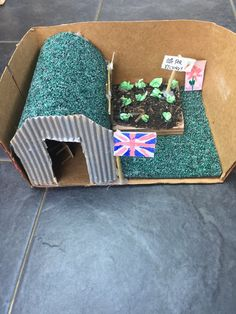Anderson shelter school project made by a year 6 student Chicken Shelter, Pig Shelter, Outdoor Cat Shelter, Horse Shelter, Shelter Architecture, World War 2 Display, Cat Shelters For Winter, Anderson Shelter, Goat Pen