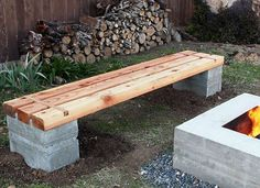 DIY Outdoor Bench - perfect for the patio or around the firepit