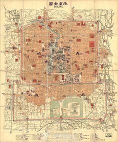 Peking Map http://stores.ebay.com/SANDTIQUE-Rare-Prints