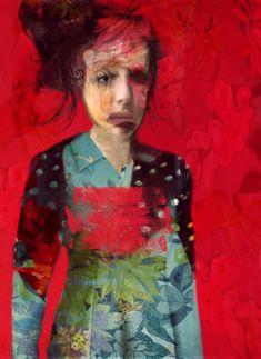 Atmósferas de ensueño y belleza etérea en los retratos de Sarah Jarrett  #pintura