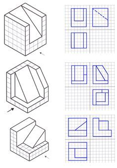 Resultado de imagen de láminas de vistas para hacer en isometrica