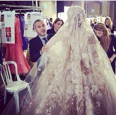 Elie Saab Haute Couture S/S 2014 backstage