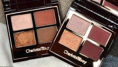 Charlotte Tilbury Quads: The Dolce Vita  and The Vintage Vamp Swatches