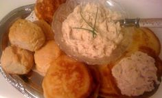 Sweet Tea and Cornbread: Country Ham Spread...with Mini Hoe Cakes and Biscuits!!